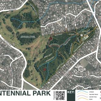 Auckland Council Map of Centennial Park